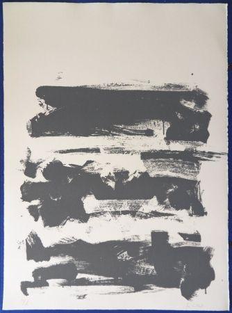 Lithographie Mitchell - Composition en gris