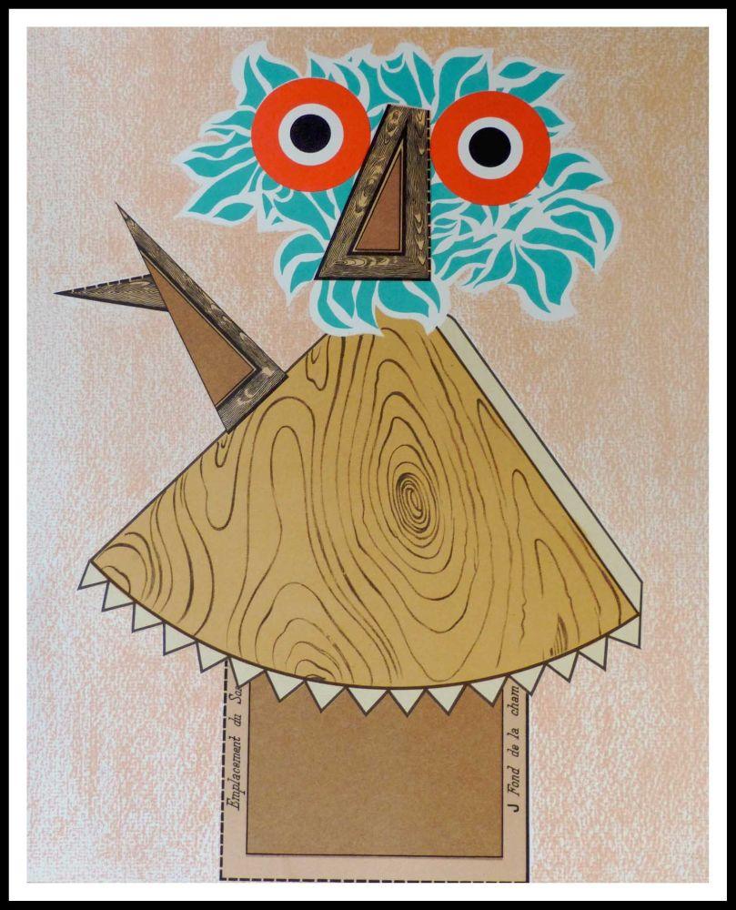 Lithographie Baj - Composition Figurative