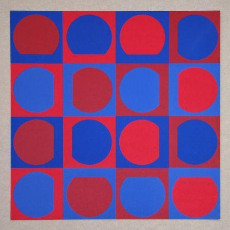 Sérigraphie Vasarely - Composition Folklore Planétaire
