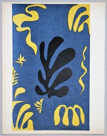 Lithographie Matisse - Composition Fond Bleu, 1951