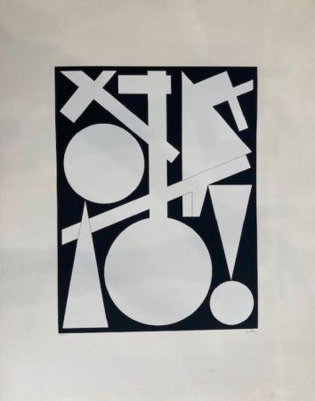 Sérigraphie Herbin - Composition géométrique