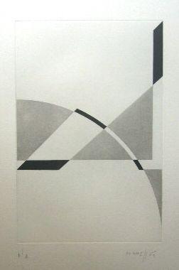 Gravure Honegger - Composition géométrique 1