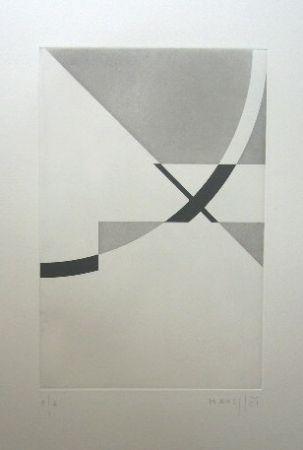 Gravure Honegger - Composition géométrique 2