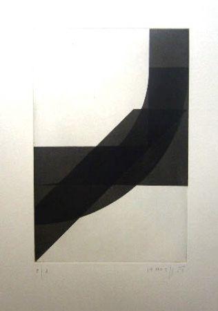 Gravure Honegger - Composition géométrique 4