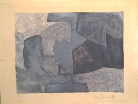 Lithographie Poliakoff - Composition grise n°59
