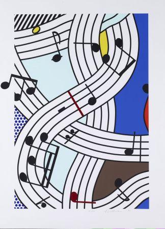 Sérigraphie Lichtenstein - Composition I