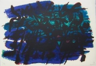 Lithographie Manessier - Composition II