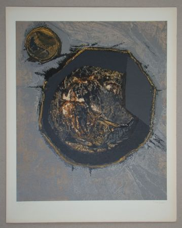 Sérigraphie Piaubert - Composition II. - 1964