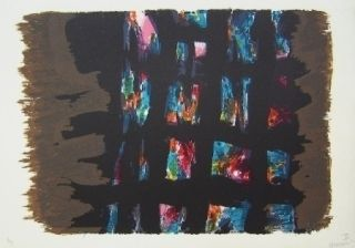 Lithographie Manessier - Composition III
