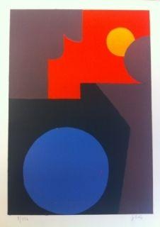 Lithographie Gilioli - Composition IV