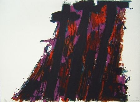 Lithographie Manessier - Composition IX