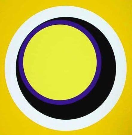 Sérigraphie Claisse - Composition jaune