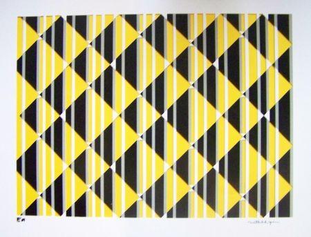 Sérigraphie Perez - Composition jaune