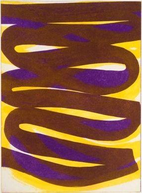 Eau-Forte Et Aquatinte Clement - Composition marron violet
