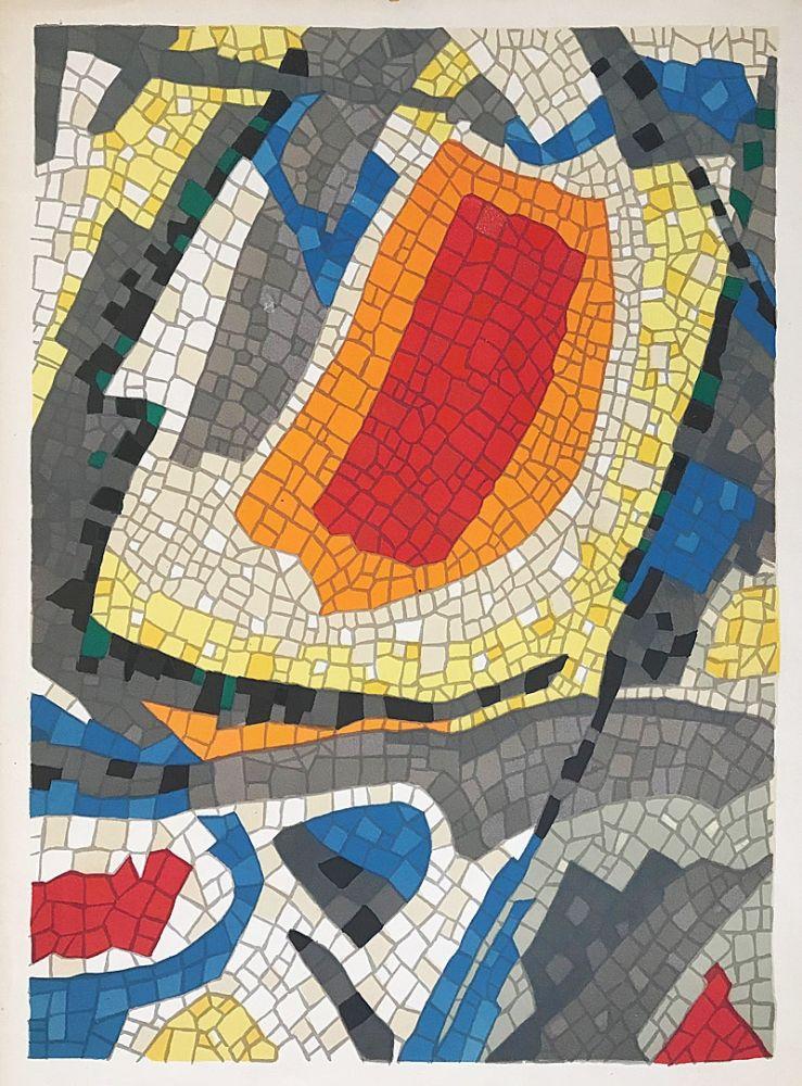 Lithographie Bazaine - Composition mosaïque