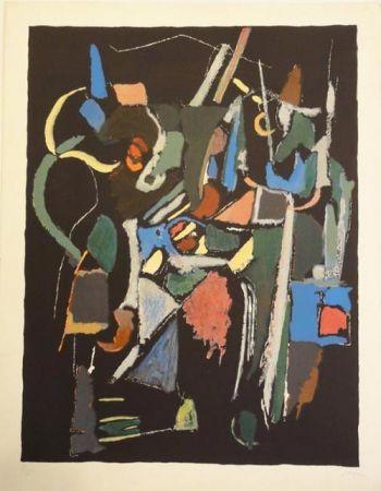 Lithographie Lanskoy - Composition noire 1