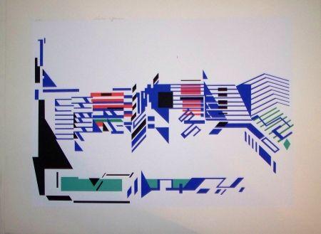 Sérigraphie Afonso - Composition op art