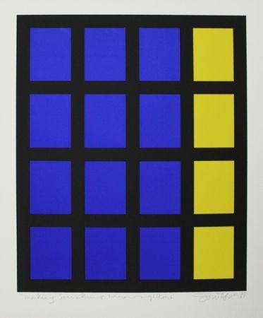 Sérigraphie Tyson - Composition op art
