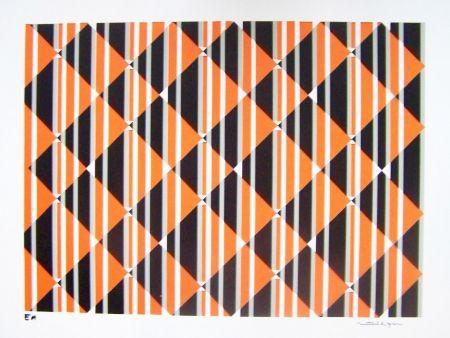 Sérigraphie Perez - Composition orange