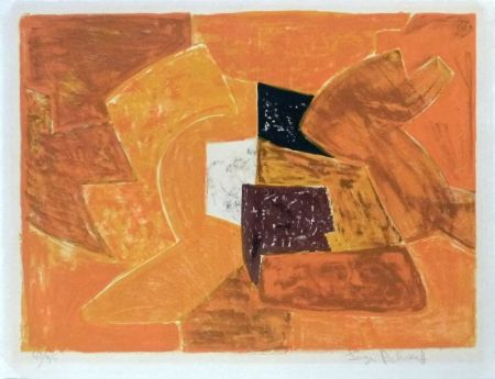 Lithographie Poliakoff - Composition orange n°23