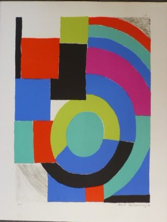 Lithographie Delaunay - Composition orphique