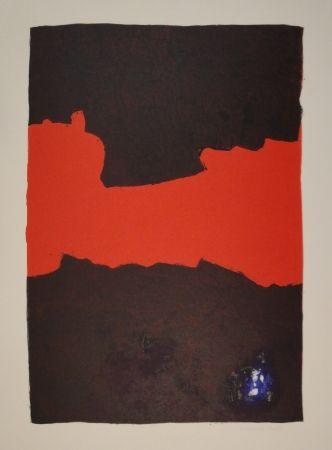Lithographie Bott - Composition (Paysage suspendu)