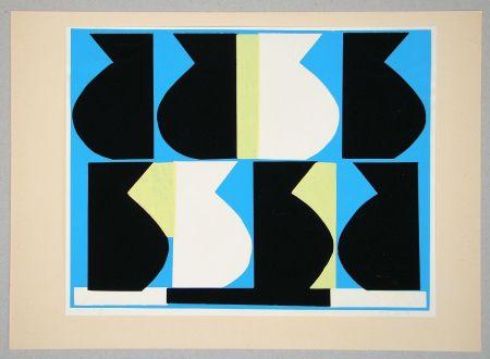Sérigraphie Delahaut - Composition pour Art Abstrait