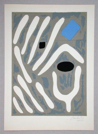 Lithographie Milo - Composition pour Art Abstrait