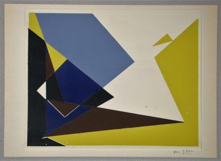 Sérigraphie Gilles  - Composition pour Art Abstrait