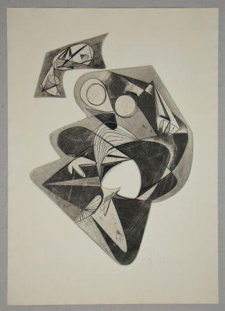 Eau-Forte Mels - Composition pour Art Abstrait