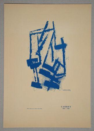 Lithographie Carrey - Composition pour Galerie Ariel