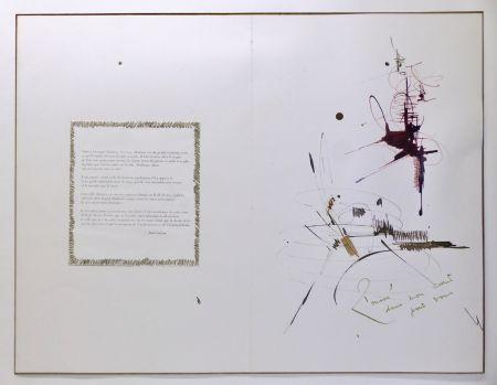 Aucune Technique Mathieu - Composition pour Jean Cocteau, 1er mai 1960. Dessin