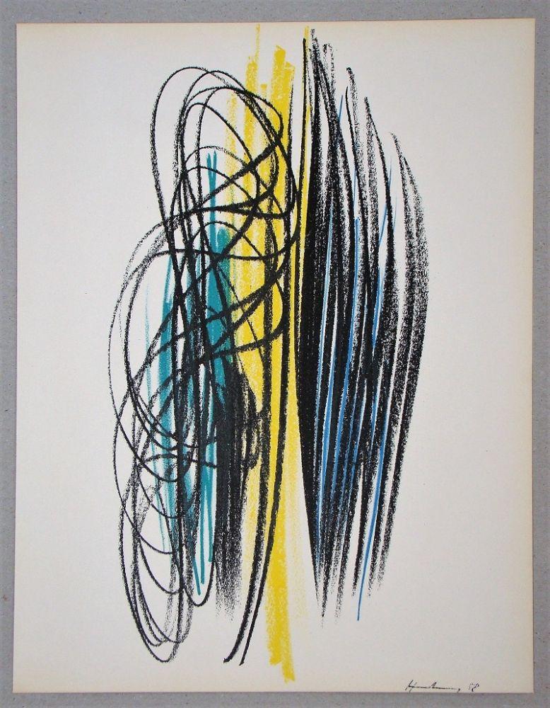 Lithographie Hartung - Composition pour XXe Siècle