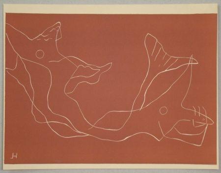Linogravure Laurens - Composition pour XXe Siècle