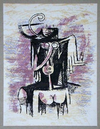 Lithographie Lam - Composition Pour Xxe Siècle