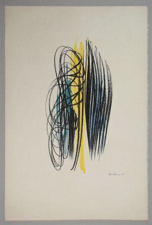 Lithographie Hartung - Composition pour XXe Siècle - 1958