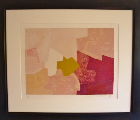 Lithographie Poliakoff - Composition rose