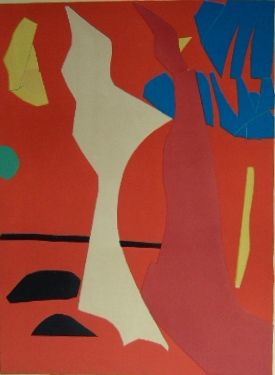 Lithographie Lanskoy - Composition rouge