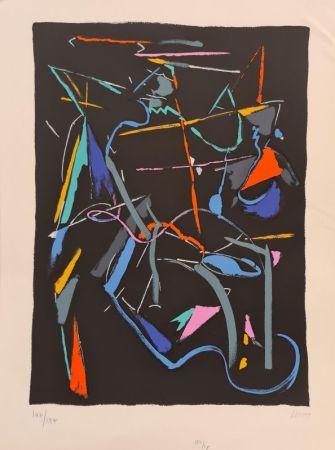 Lithographie Lanskoy - Composition sur fond Noir