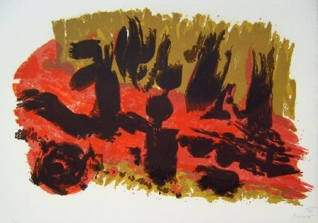 Lithographie Manessier - Composition VII