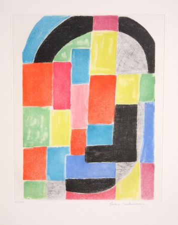 Gravure Delaunay - Composition with Arc