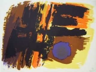 Lithographie Manessier - Composition XIII