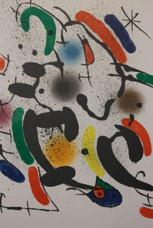 Lithographie Miró - Composition Xiii
