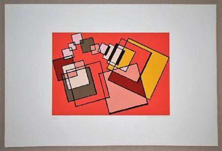 Lithographie Radice - Compositione astratta rosa