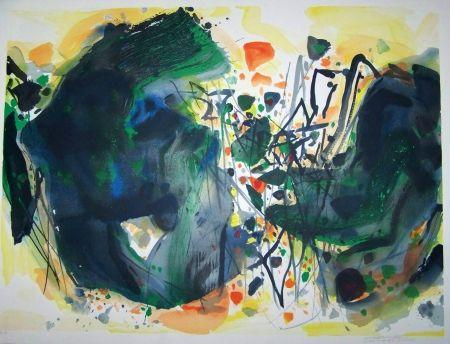 Lithographie Chu Teh Chun  - Composituion XIII