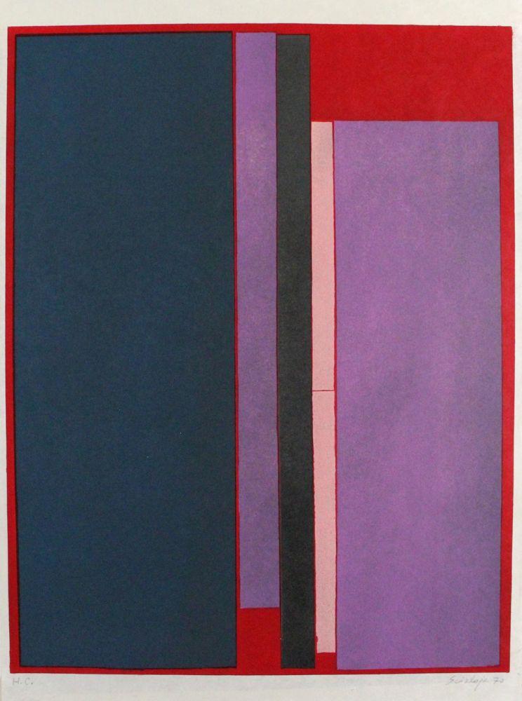 Lithographie Scialoja - Composizione a colori