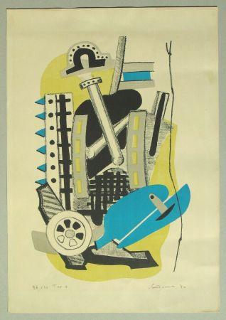 Lithographie Santomaso - Composizione (c)