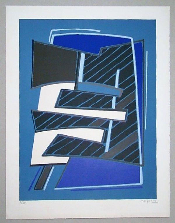Lithographie Magnelli - Composizione In Azzuro