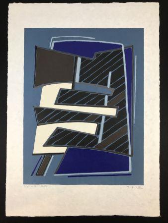Lithographie Magnelli - Composizione in Azzurro