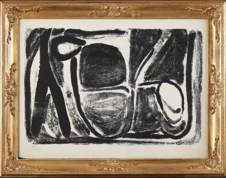 Lithographie Van Velde - Composizione in bianco e nero